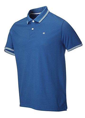 Champion-Polo da uomo, in tessuto piqué Blu blu S
