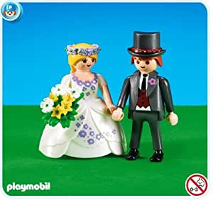 Amazon.com: Playmobil: 7497 Bride and Groom: Toys & Games
