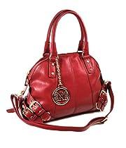 Belted Satchel Handbag (Red)