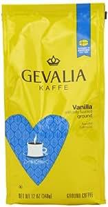 Gevalia Roast and Ground Coffee, Vanilla, 12 Ounce (Pack of 6)