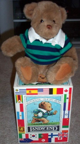 1990 Lands End Authentic Rugby Bear Coach Paul Bear - 1