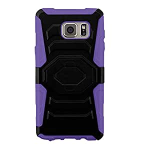 Zizo Cell Phone Case for Samsung Galaxy Note 5 - Retail Packaging - Purple/Black