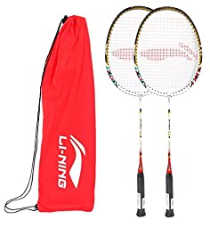 Li-Ning Badminton Racquet Smash Series Pack of 2 with Extra Grip Q50