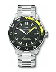 IWC Men's IW356808 Aquatimer Black Dial Watch