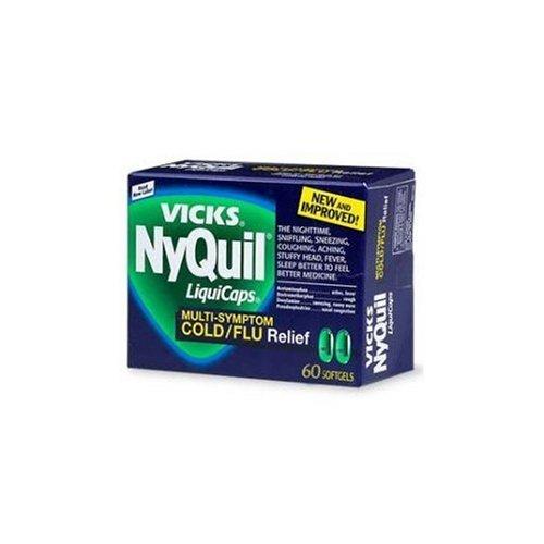 NyQuil-Vicks Multi-Symptom Cold/Flu Relief, 60 Liquicaps