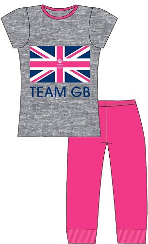 New Girls Great Britain Official Team GB 2012 Olympics Cotton Pyjama Pajama Sleepwear Nightwear