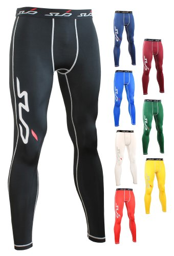 SUB DUAL Mens Compression Baselayer Leggings / Tights