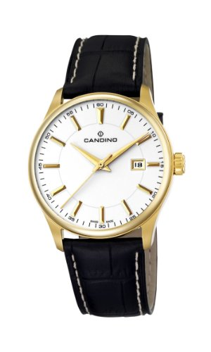 Candino C4457/2 - Reloj analógico de cuarzo para hombre con correa de piel, color negro