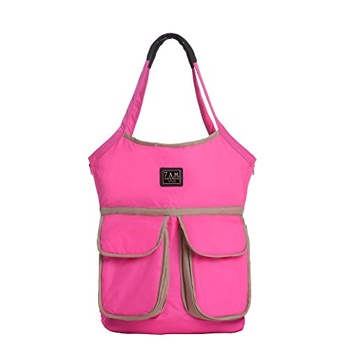 7AM Enfant Barcelona Diaper Bag, Neon Pink