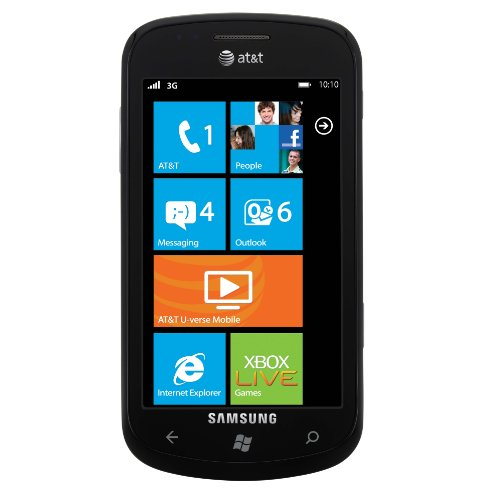 Samsung Focus I917 Unlocked Phone with Windows 7 OS, 5 MP Camera, and Wi-Fi–No Warranty (Black)