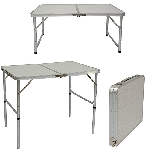 campingtisch aus aluminium h henverstellbarer klapptisch 90x60cm praktisches kofferformat. Black Bedroom Furniture Sets. Home Design Ideas