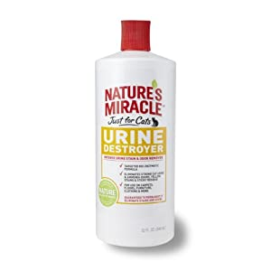 Nature's Miracle Just for Cats Urine Destroyer Formula, 32-Ounce Pour Bottle