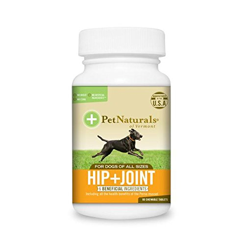 Pet Naturals of Vermont, Hip + Joint, Joint Supplements for Dogs, 90 Tablets (Vermont Naturals Hip And Joint compare prices)