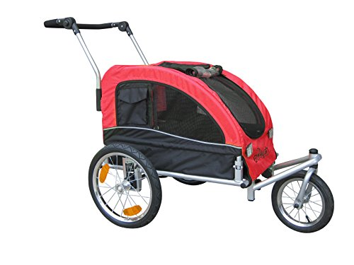 Booyah Medium Dog Pet Bike Trailer Pet Trailer And Stroller Red