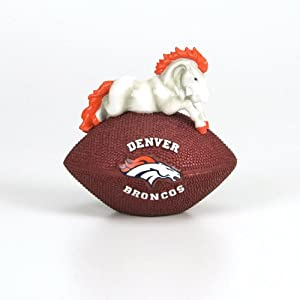4.5 NFL Denver Broncos Collectible Football Paperweight by CC Sports Decor
