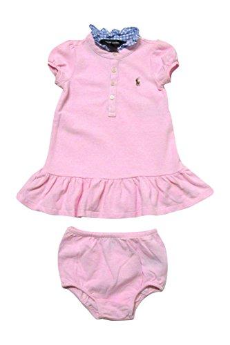 Ralph Lauren Infant Girls' Gingham Collar Polo Dress (18 Months, Light Pink / Blue)