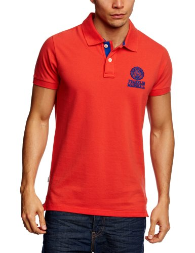 Franklin & Marshall POMC054S13 Polo Shirt Men's T-Shirt Orange Small