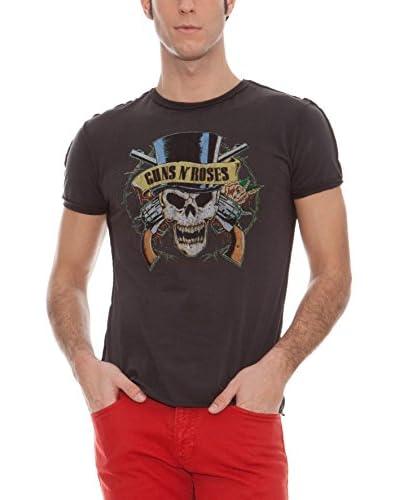 Amplified Camiseta Manga Corta Guns N'Roses Gris Oscuro