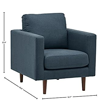 Rivet Revolve Modern Accent Chair, Denim