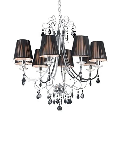 Zuo Humphreys Ceiling Lamp, Black/Chrome