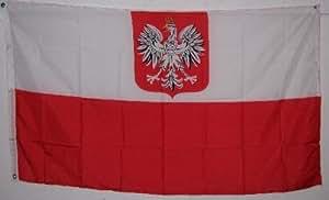 Amazon.com : 2x3 POLAND FLAG with Eagle Crest - - - - 2x3