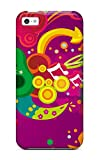 Faddish Phone Funky Pink Art Case For Iphone 5c / Perfect Case Cover