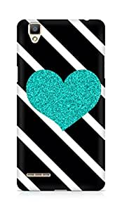 Amez designer printed 3d premium high quality back case cover for OPPO F1 (shimmer heart )