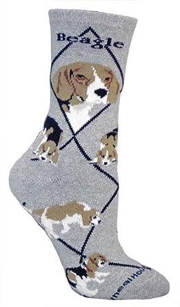 Beagle Dog Gray Cotton Ladies Socks at Amazon Women's Clothing store
