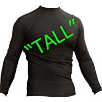 TALL MMA Rash Guard - Long Sleeve, Black - Small Oval-XXL