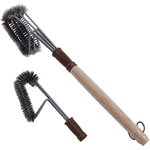 Buy Cheap 360° CLEAN GRILL BRUSH DELUXE PACK - Triple Headed Stainless Steel Brush Plus Extra Indus...