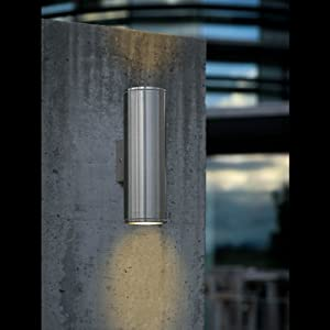 Eglo Lighting Riga Stainless Steel Double Outdoor Wall Light