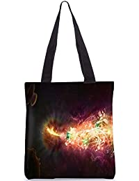 Snoogg Abstract Amazed Design Digitally Printed Utility Tote Bag Handbag Made Of Poly Canvas - B01C8LSQHW