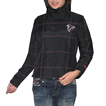 NFL Ladies Atlanta Falcons Zip-Up Down Filled Jacket with Embroidered Logo by NFL