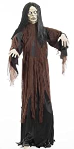 Forum Novelties Life Size Latex Zombie Female Witch Halloween Prop with Stand