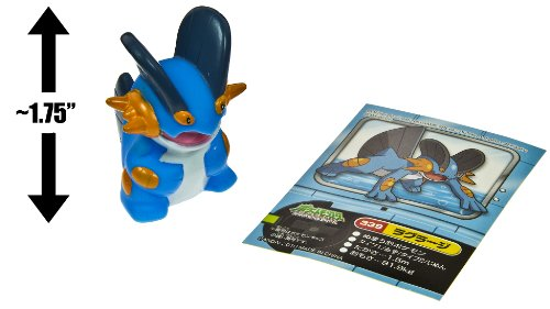 "Swampert (#339) ~1.75"" Mini-Figure: Pokemon Kids DP National Encyclopedia Edition Series #7 (Japanese Import) - 1"