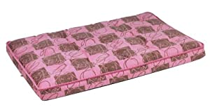"Bowsers Luxury Dog Crate Mattress, Tickled Pink, MED 21""x30""x3"" from Bowsers"