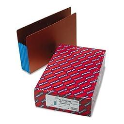 Extra Wide File Pocket, 5-1/4 quot; Exp, Letter, Blue