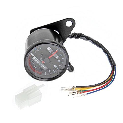 JVJ Motorrad Dual-Kilometerzähler Anzeige-LED Neutral Blinker