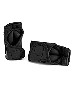 Black Weighted Exercise Gloves - 1 Pound Each Perfect for Cardio Kick Boxing MMA Aerobics Shadow Boxing Speed Toning and Strength