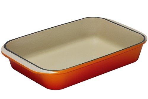 Le Creuset Cast Iron Rectangular Oven Dish, Volcanic, 40 cm