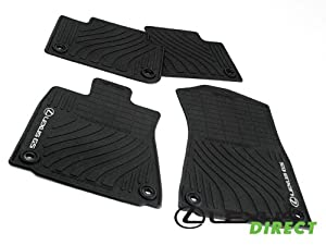 new oem 2013 lexus gs350 gs450h all weather floor mats rear wheel drive set of 4. Black Bedroom Furniture Sets. Home Design Ideas