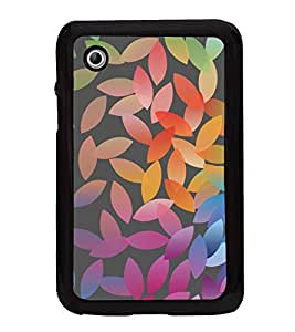 Colourful Leaf Pattern 2D Hard Polycarbonate Designer Back Case Cover for Samsung Galaxy Tab 2 :: Samsung Galaxy Tab 2 P3100