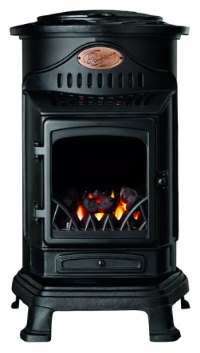 Calor Provence 3kw Portable Flueless Gas Stove Heater (Matt Black)