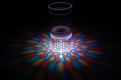Set Of 2 Literays Led Light Up Projection Shot Glasses- Dots
