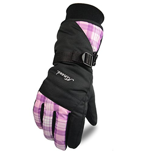 Kineed Waterproof Women Winter Ski Skiing Snow Warm Gloves