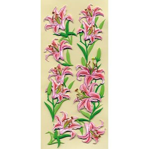 Art-Work 3D Orchid Stickers - Pink