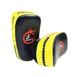 MMA BOXING KICK TARGET PUNCHING PAD KARATE TAEKWONDO EXERCISE SHIELD YELLOW