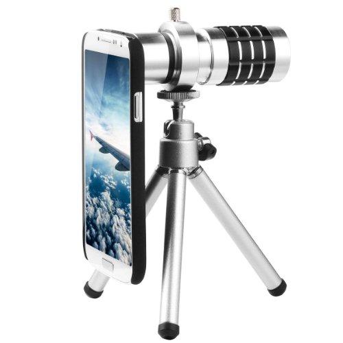 Dqdf 12X Zoom Magnifier Micro Telephoto Telescope Camera Lens Tripod For Samsung Galaxy S4 I9500 Dc321 Dqdf