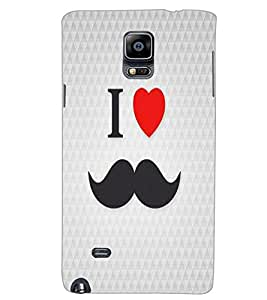SAMSUNG GALAXY NOTE 4 I LOVE MUSTACHES Back Cover by PRINTSWAG