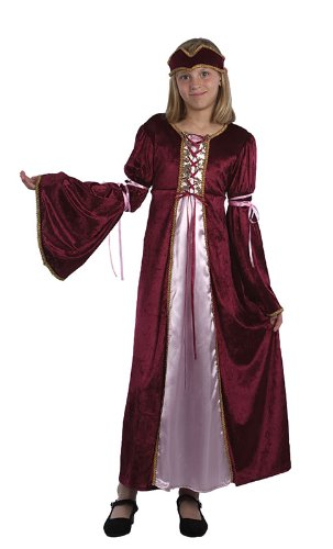 Girls Medieval Tudor Renaissance Princess Costume Large